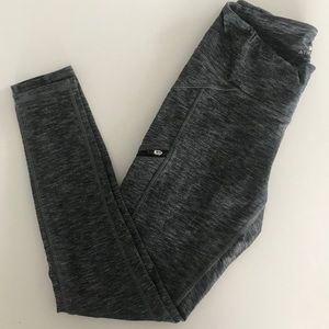 Athleta Gray Leggings with side-zippers